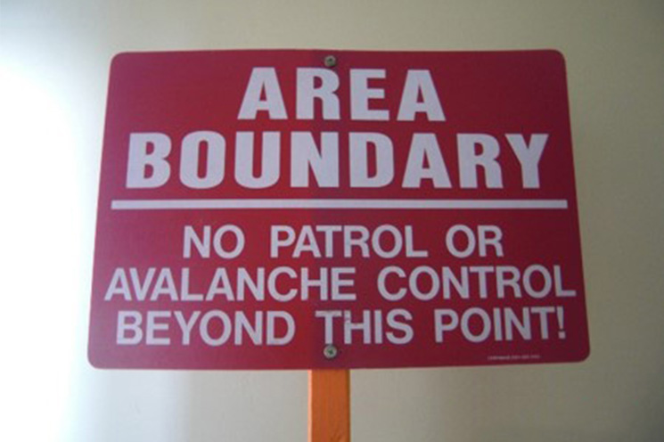Area Boundary Sign