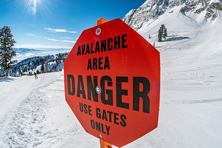 Avalanche Area Danger - Use Gates Only