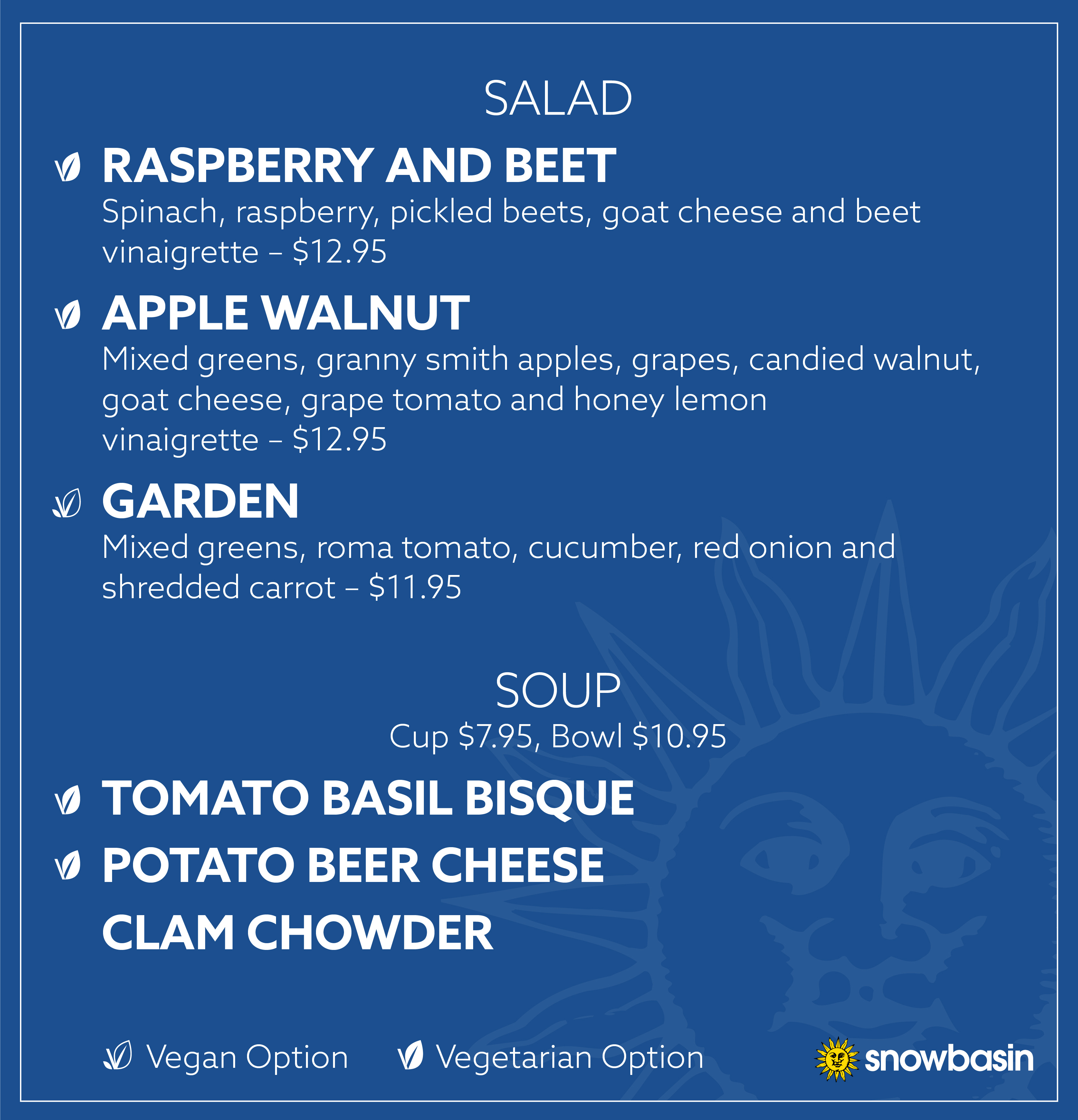 Salad & Soup Menu