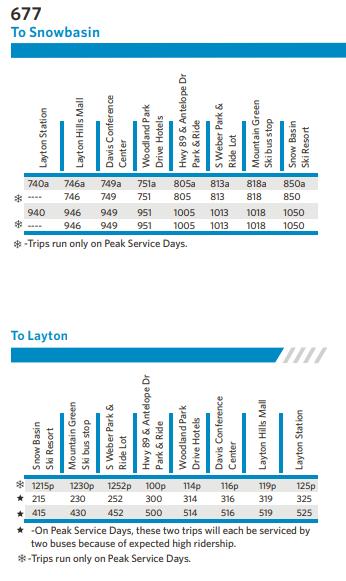 Layton Bus Route Schedule
