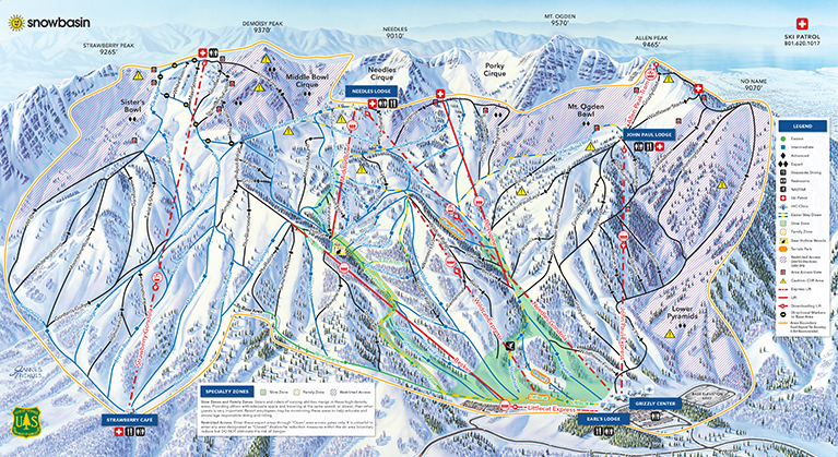 Snowbasin Winter 2019-20 trail map