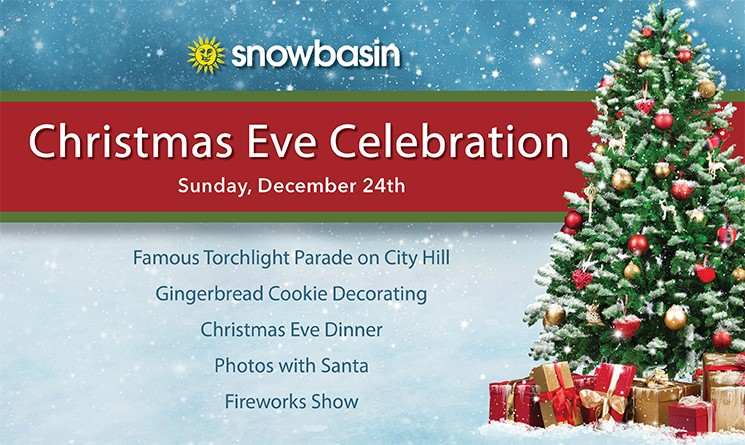 snowbasin resort will be hosting our annual christmas eve celebration on sunday december 24th get pictures with santa before he heads out to spread - Christmas Sunday