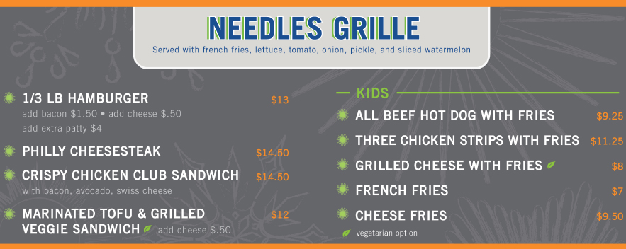 Needles Grille
